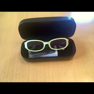 Coach Lindsay S429 Ivory Sunglasses with case.